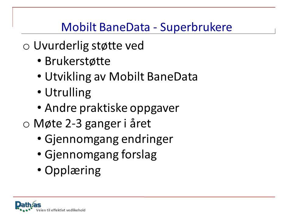 Mobilt BaneData - Superbrukere