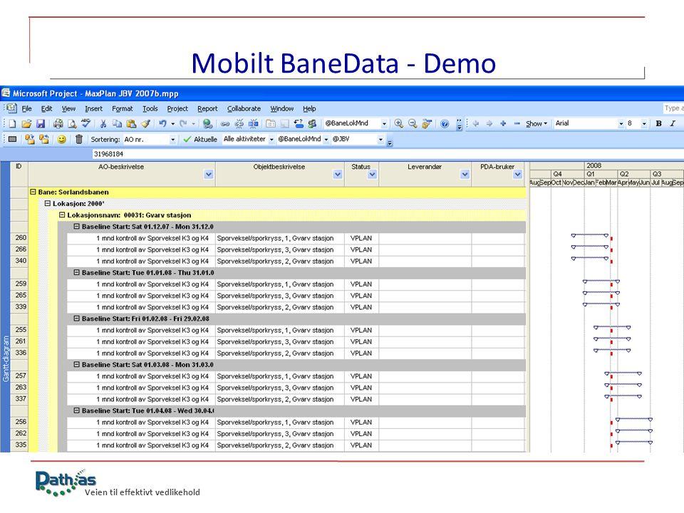 Mobilt BaneData - Demo MaxPlan