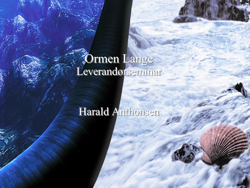 Leverandørseminar Harald Anthonsen