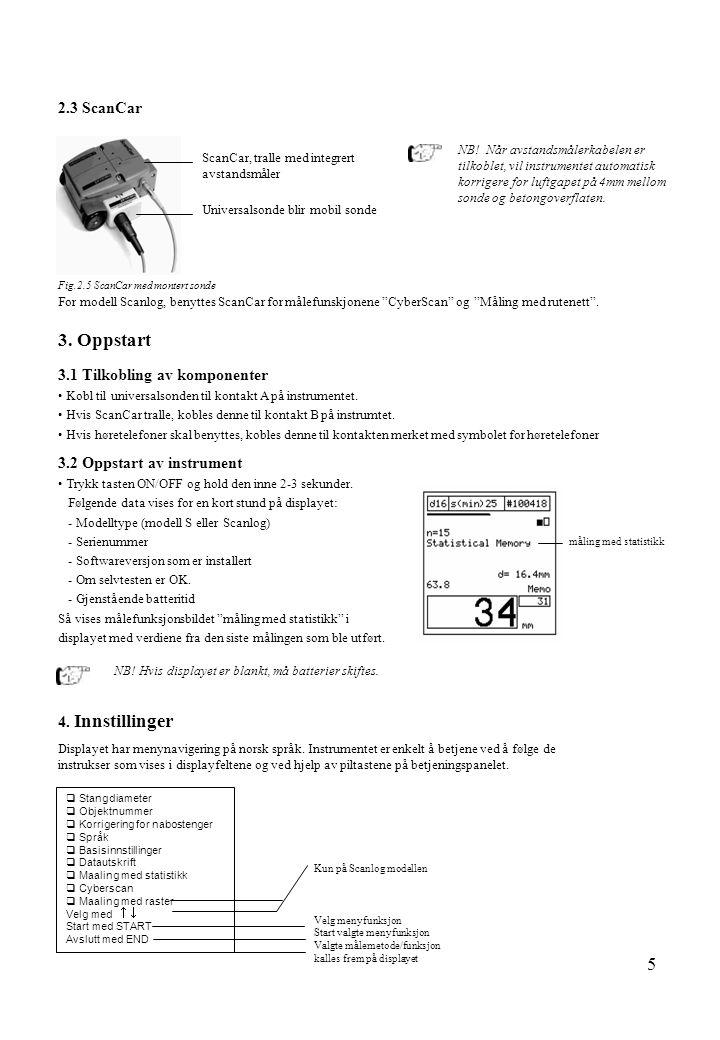 3. Oppstart 2.3 ScanCar 3.1 Tilkobling av komponenter