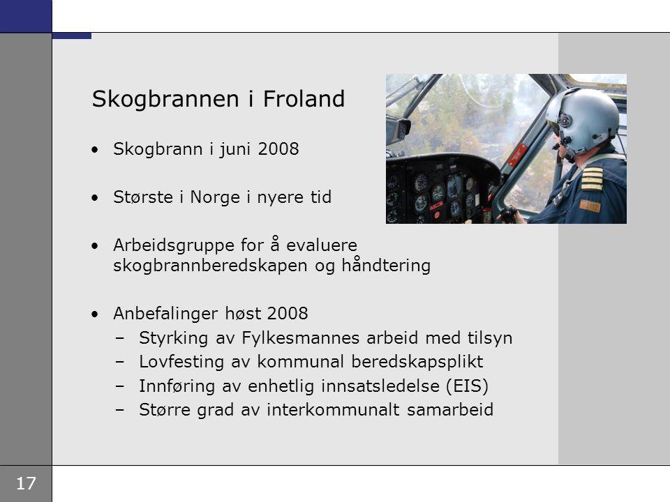 Skogbrannen i Froland Skogbrann i juni 2008