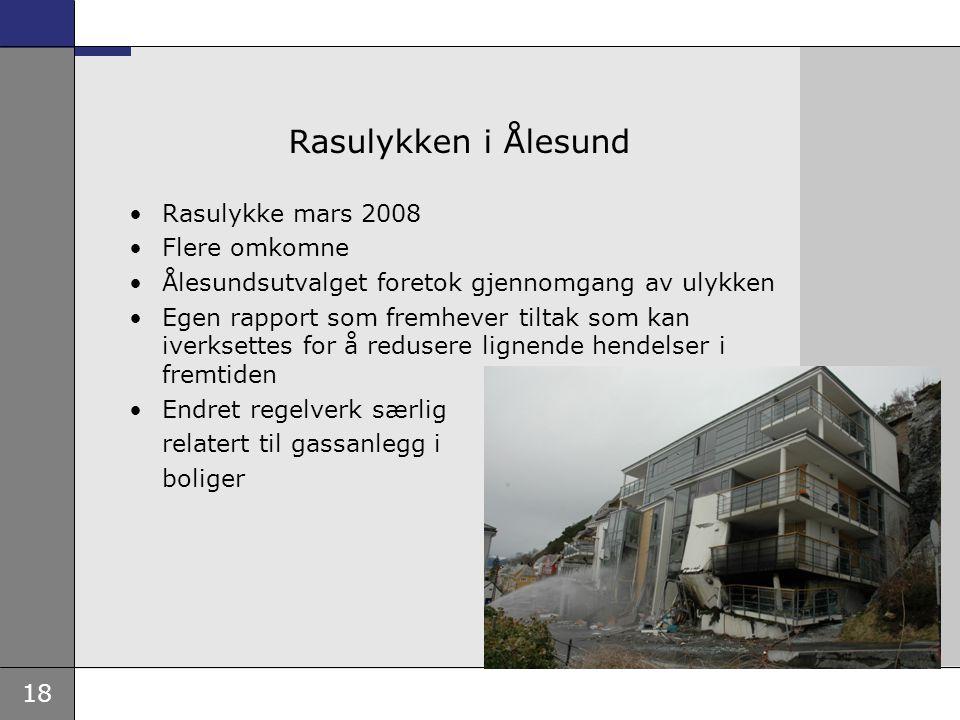 Rasulykken i Ålesund Rasulykke mars 2008 Flere omkomne
