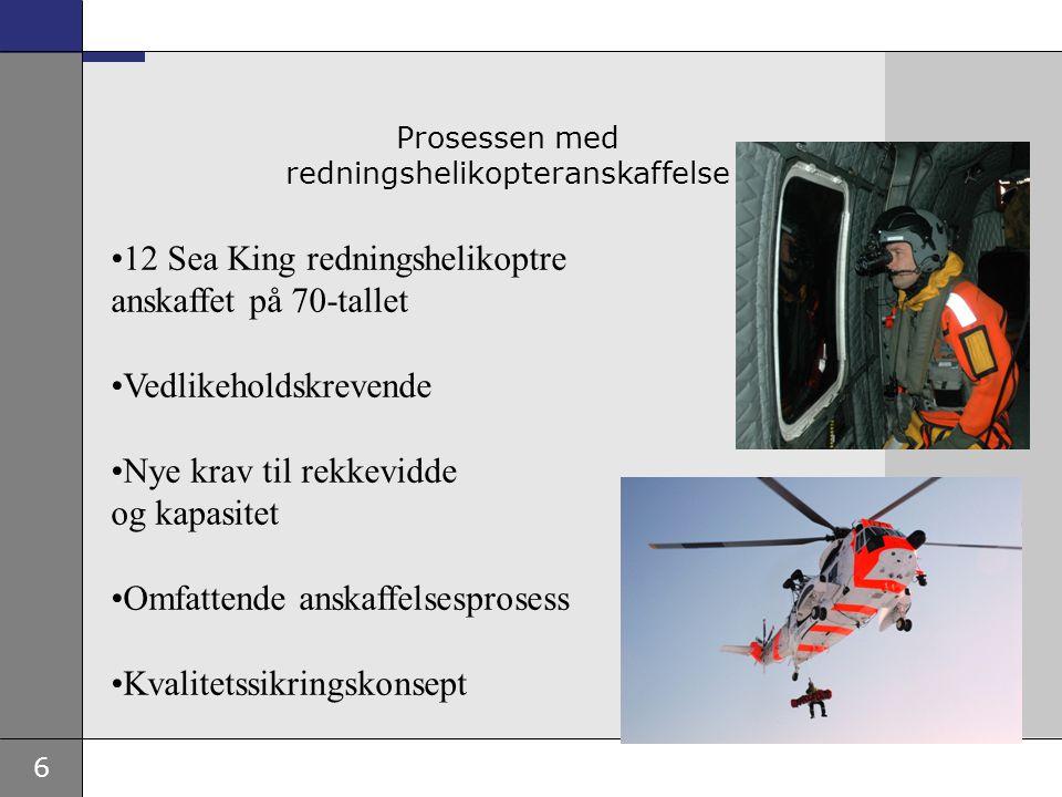 Prosessen med redningshelikopteranskaffelse