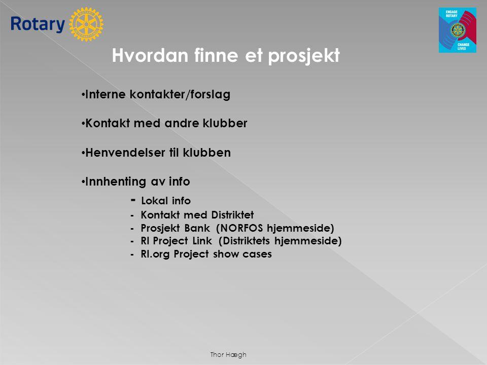 Hvordan finne et prosjekt