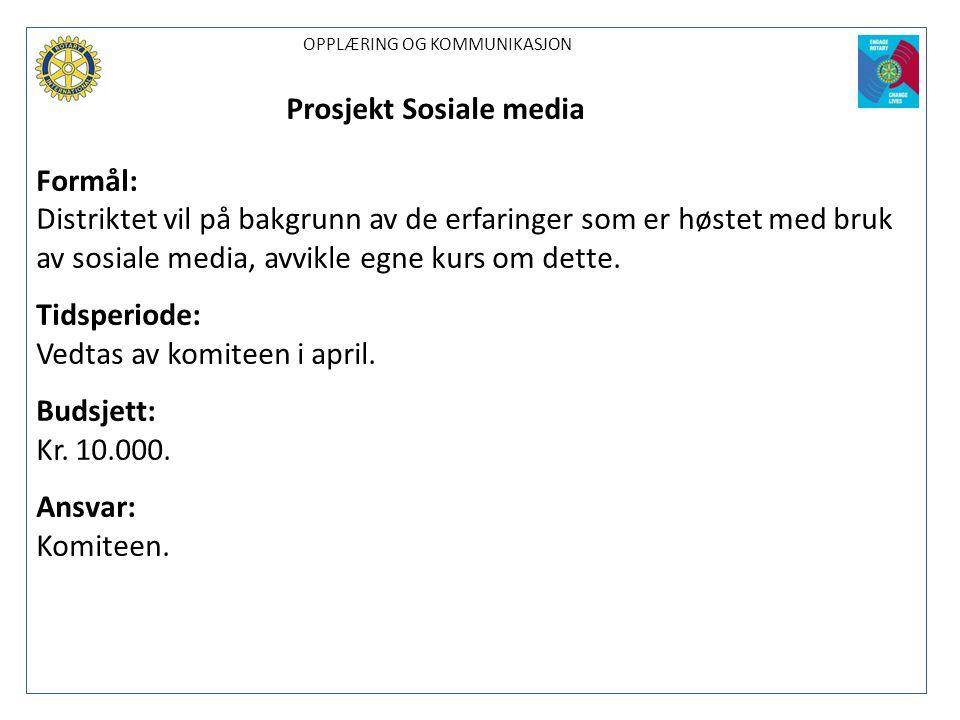 Prosjekt Sosiale media