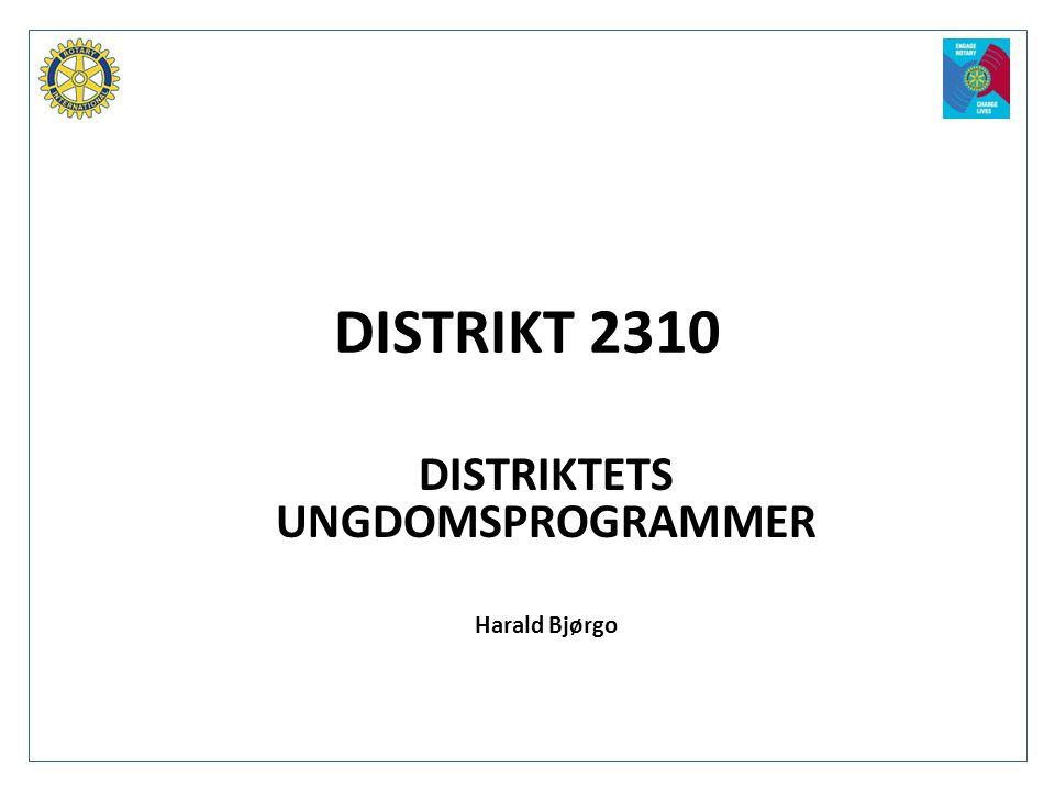 DISTRIKTETS UNGDOMSPROGRAMMER Harald Bjørgo