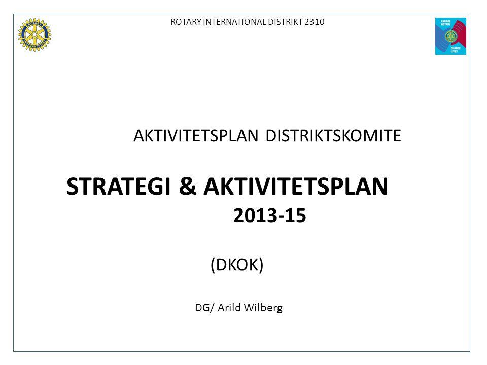 STRATEGI & AKTIVITETSPLAN 2013-15