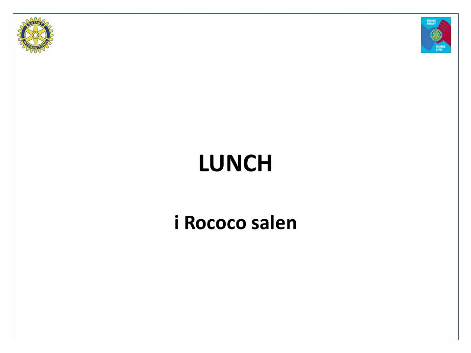 LUNCH i Rococo salen