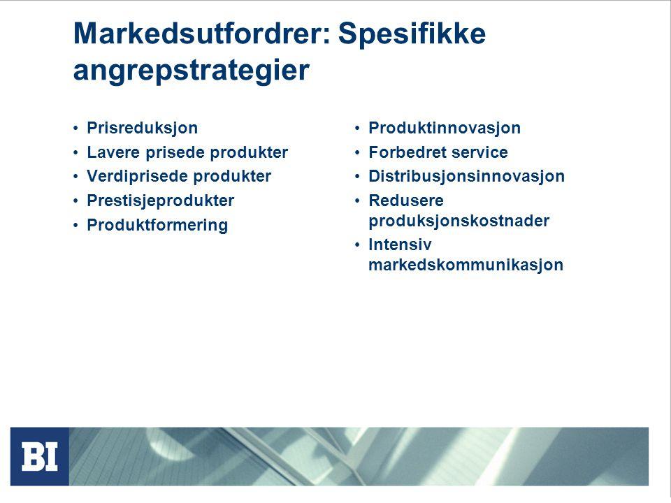Markedsutfordrer: Spesifikke angrepstrategier