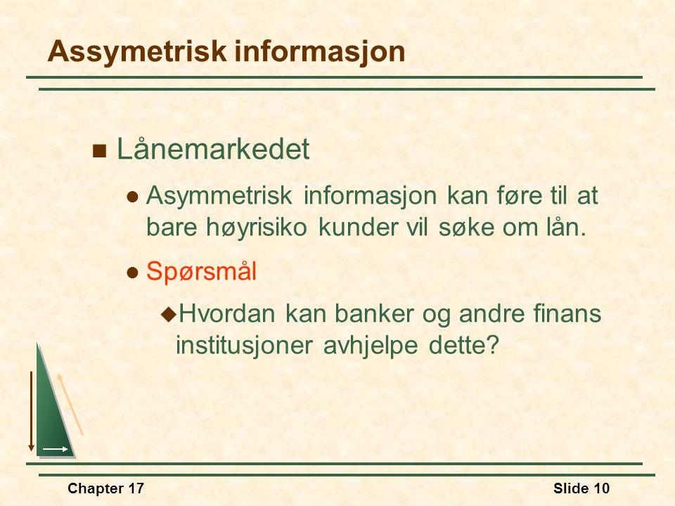 Assymetrisk informasjon