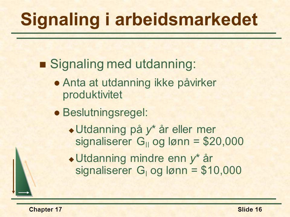 Signaling i arbeidsmarkedet