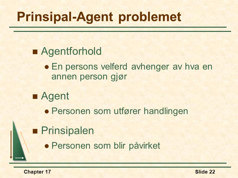 Prinsipal-Agent problemet