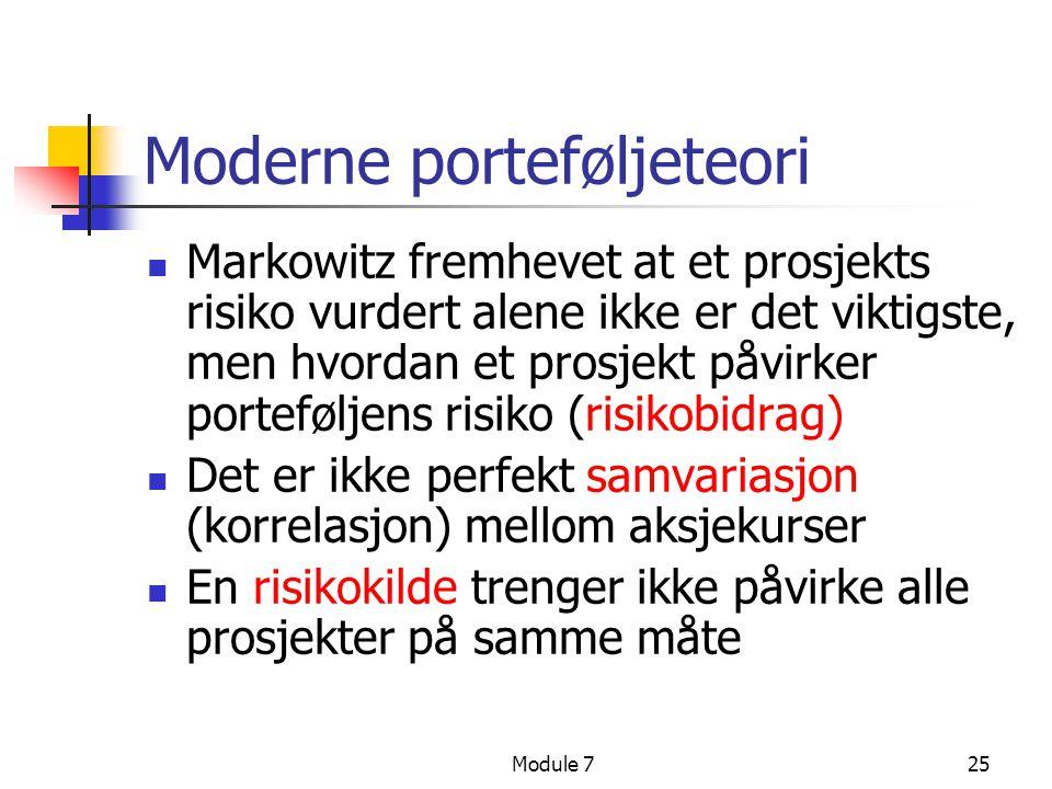 Moderne porteføljeteori