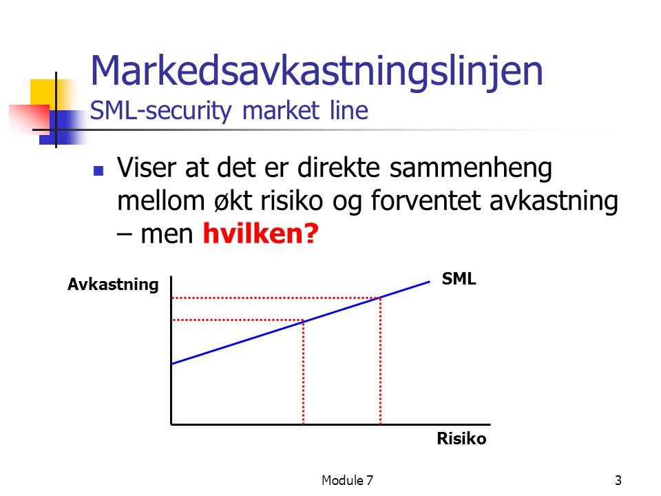 Markedsavkastningslinjen SML-security market line