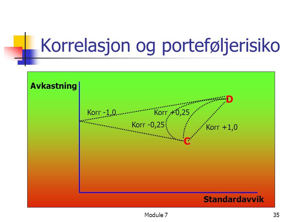 Korrelasjon og porteføljerisiko