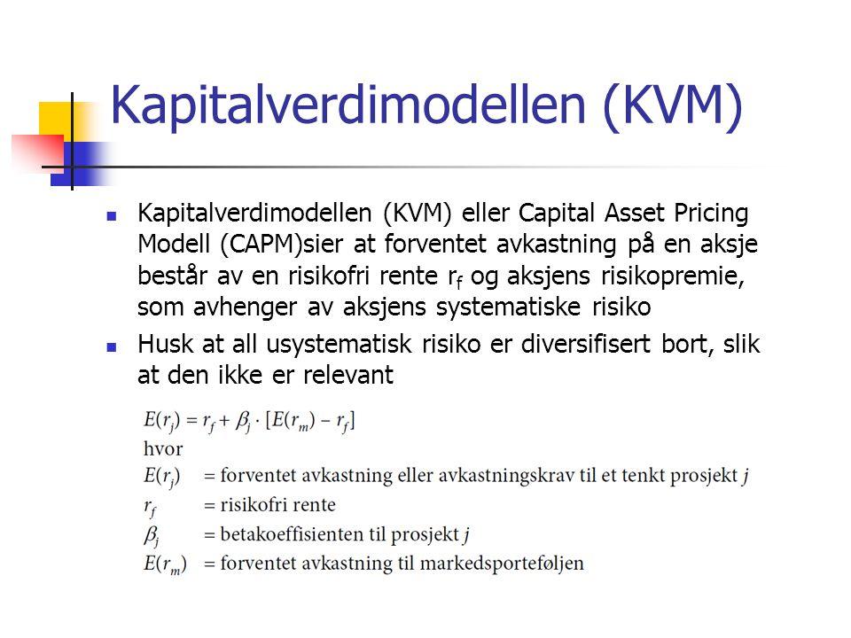 Kapitalverdimodellen (KVM)