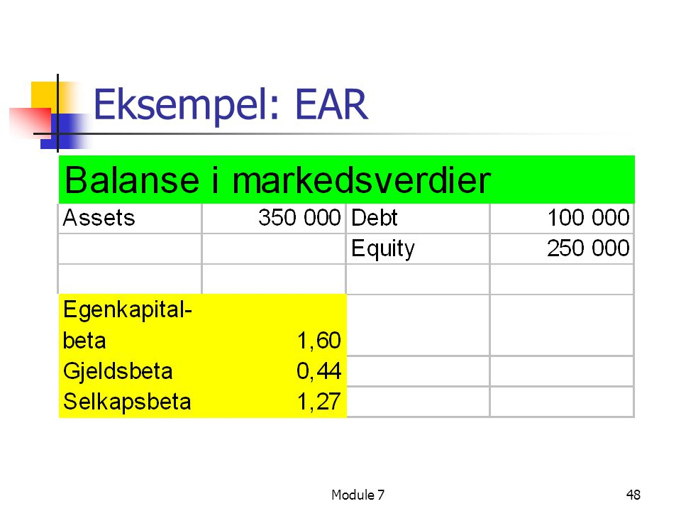 Eksempel: EAR Module 7