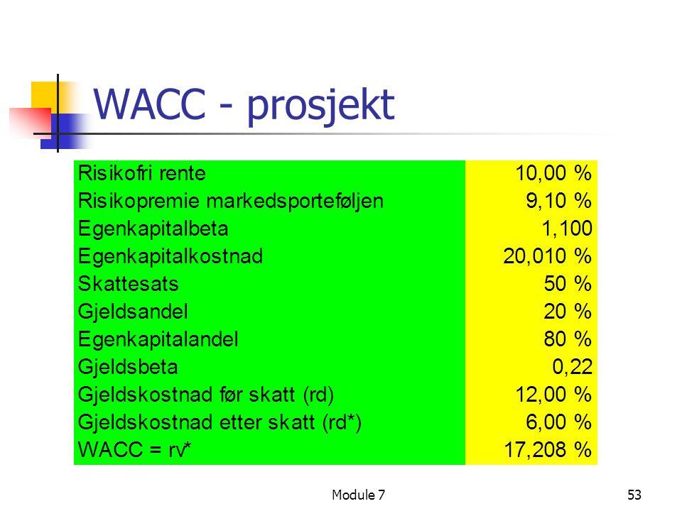 WACC - prosjekt Module 7