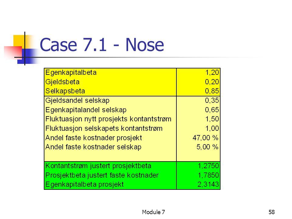 Case 7.1 - Nose Module 7