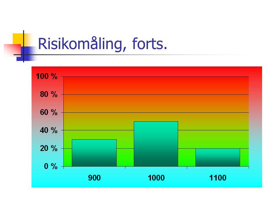 Risikomåling, forts.