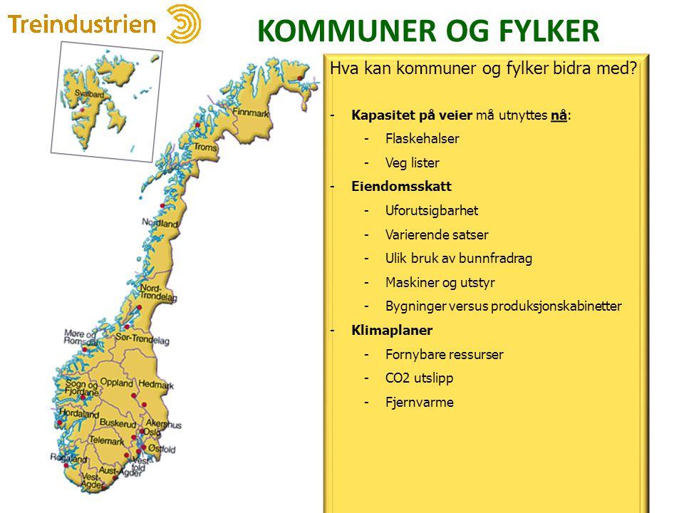 KOMMUNER OG FYLKER Hva kan kommuner og fylker bidra med