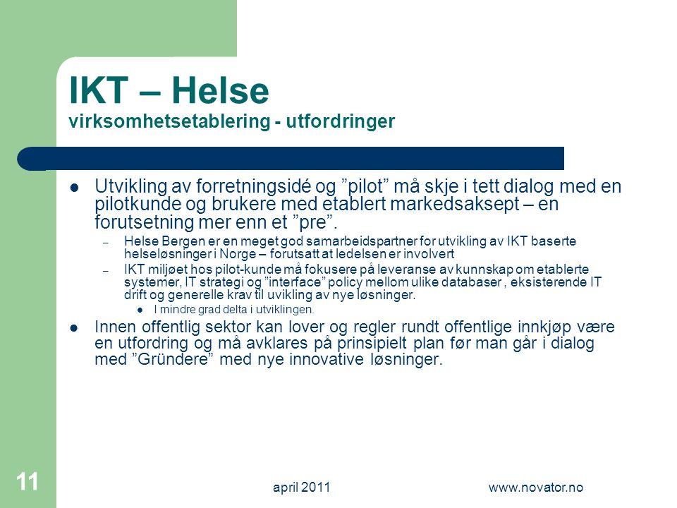 IKT – Helse virksomhetsetablering - utfordringer
