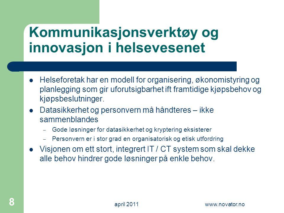 Kommunikasjonsverktøy og innovasjon i helsevesenet