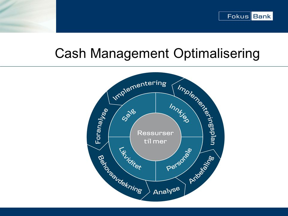 Cash Management Optimalisering
