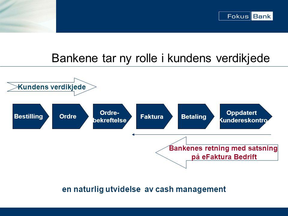 Bankenes retning med satsning en naturlig utvidelse av cash management