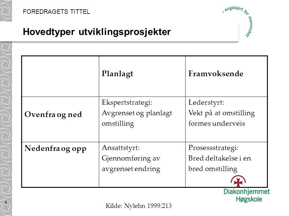 Hovedtyper utviklingsprosjekter