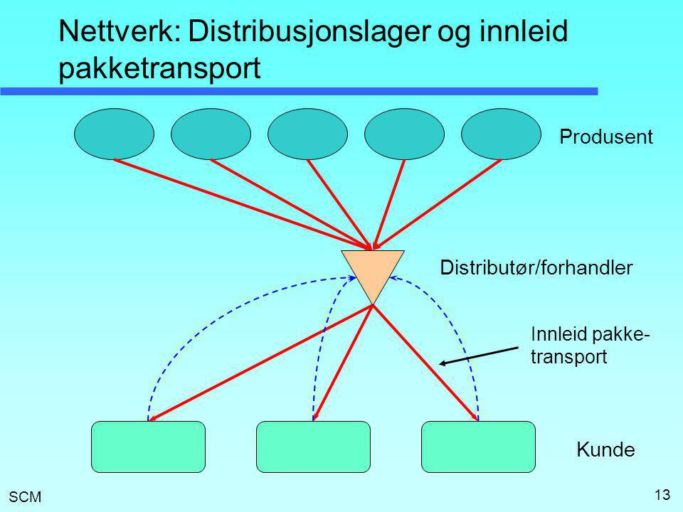 Nettverk: Distribusjonslager og innleid pakketransport