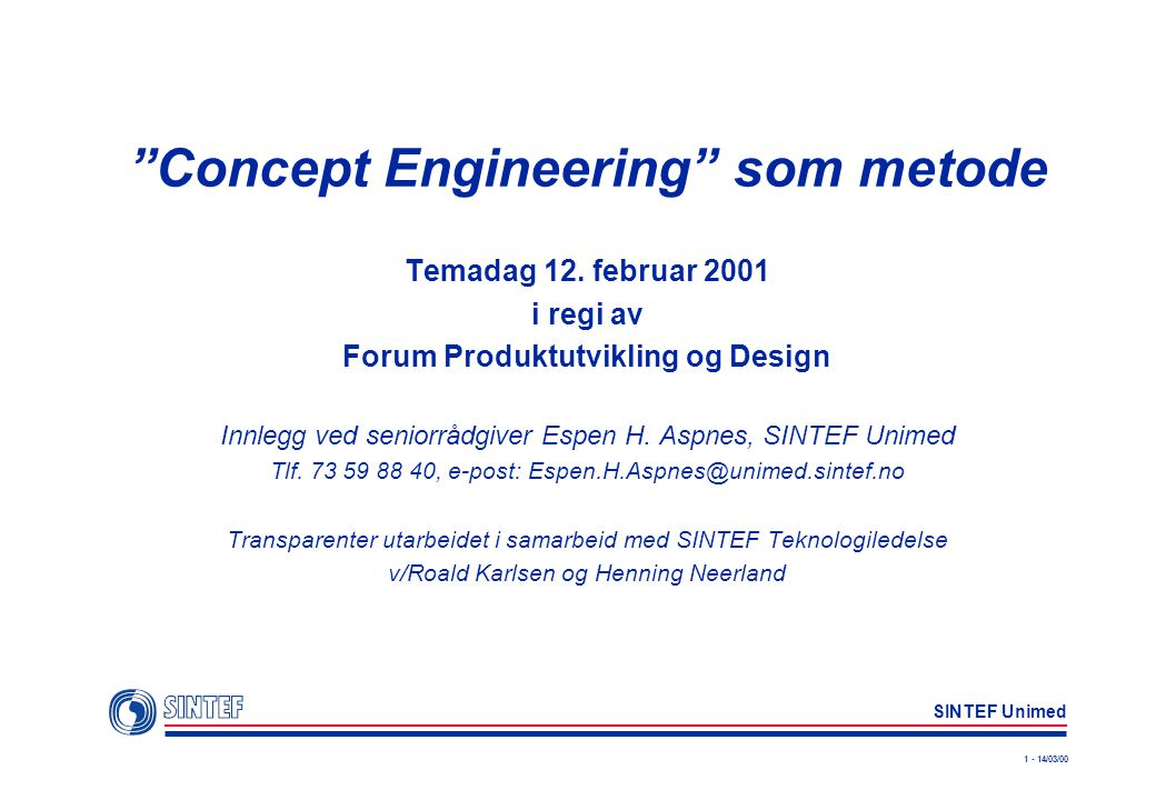 Concept Engineering som metode
