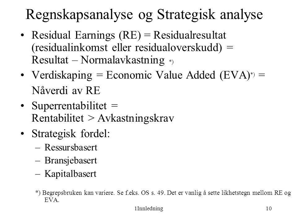 Regnskapsanalyse og Strategisk analyse