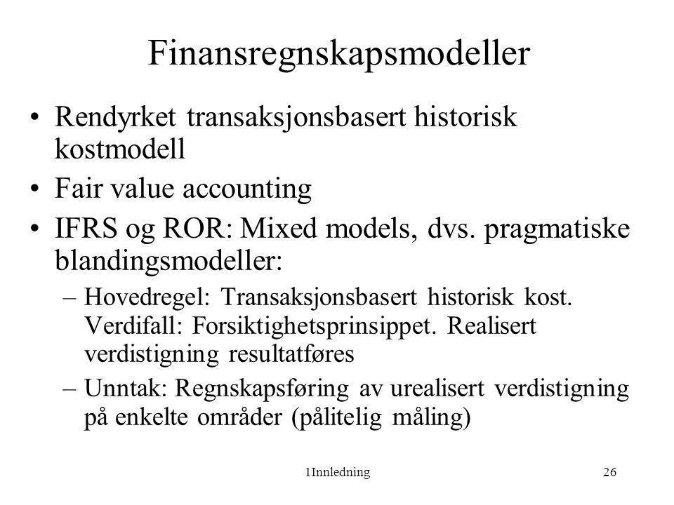 Finansregnskapsmodeller