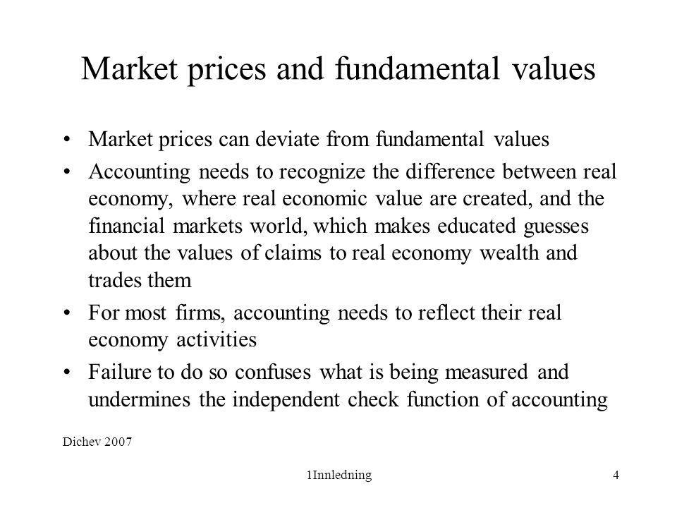 Market prices and fundamental values