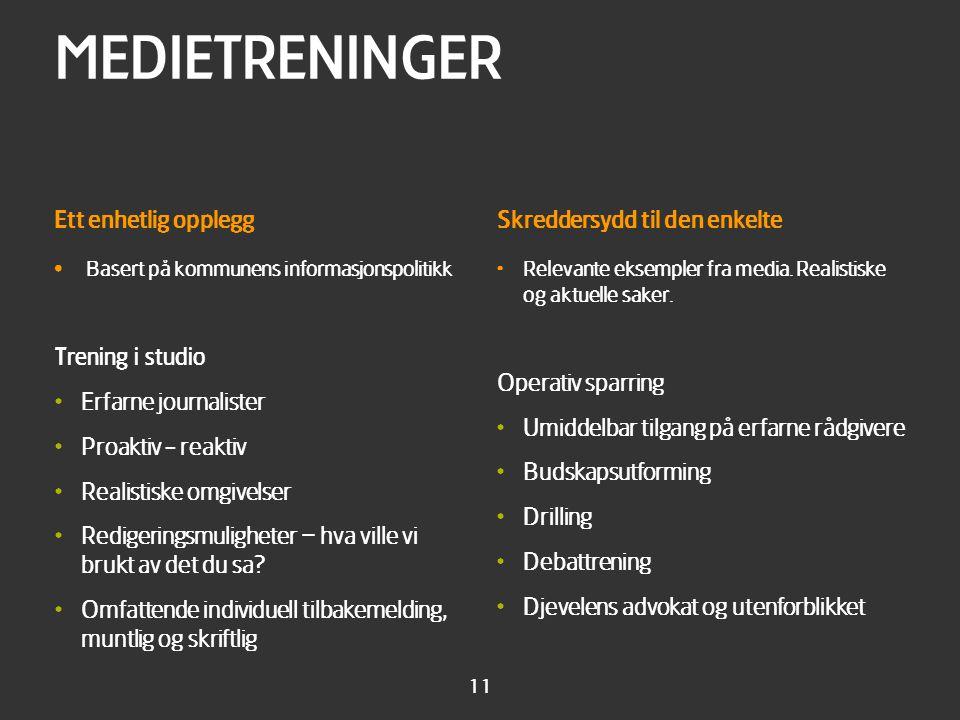 Erfaringer Vi har medietrent byrådene i Oslo denne våren