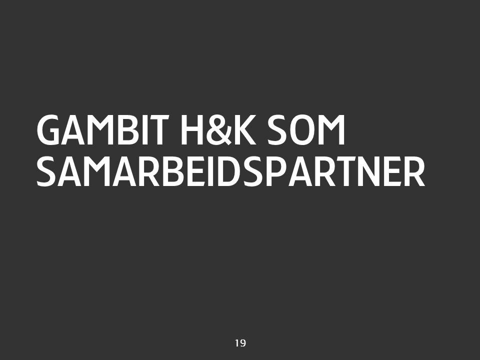 Gambits kjerneteam Lars Erik Jan Cecilie Rina Per Arne John-Ragnar