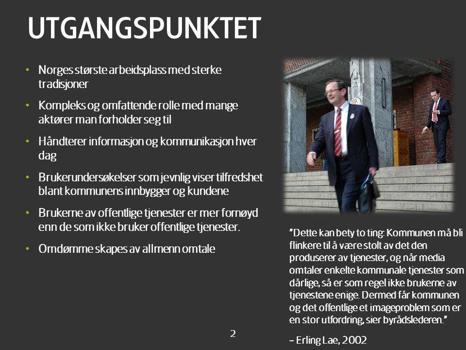 Kort om oss Norges ledende fullservicebyråer med ca 45 ansatte