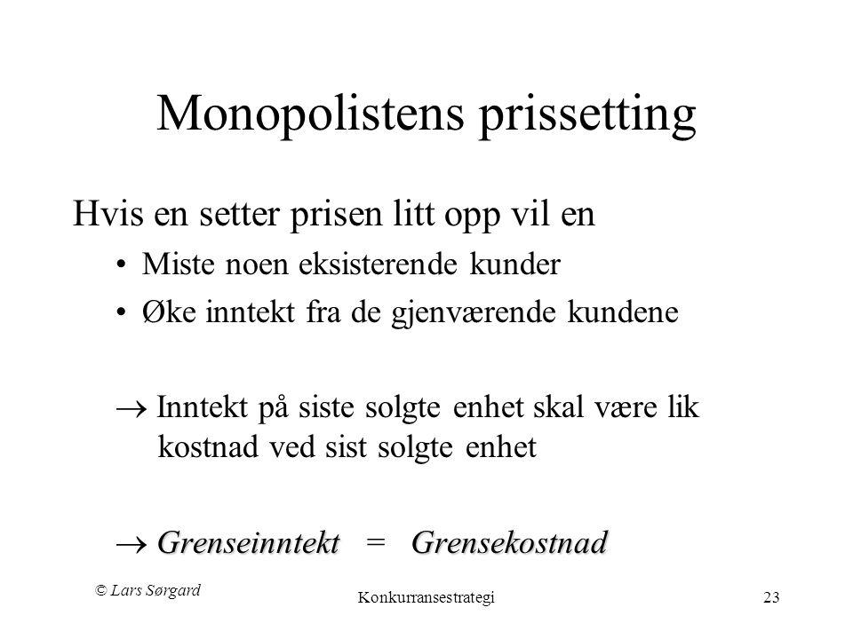 Monopolistens prissetting