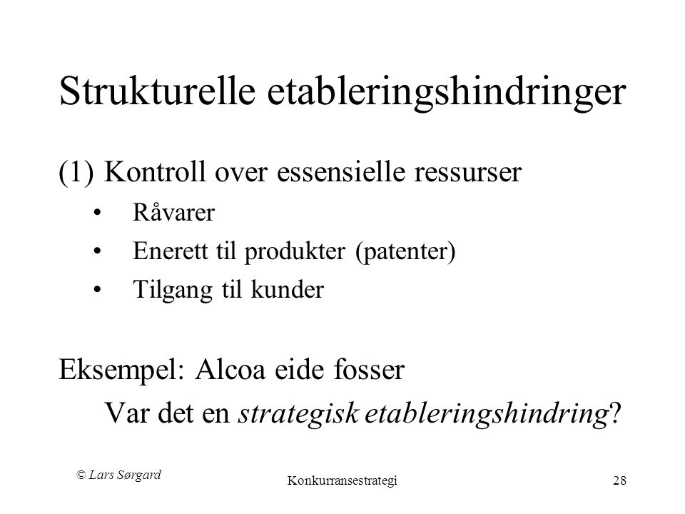 Strukturelle etableringshindringer
