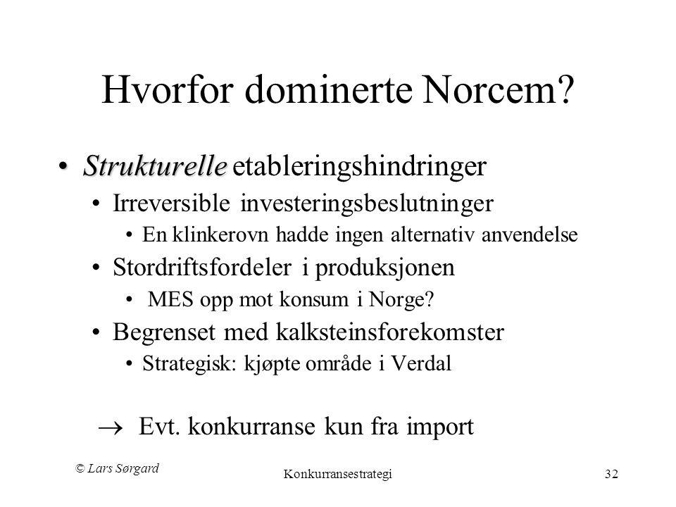 Hvorfor dominerte Norcem