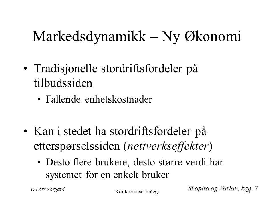 Markedsdynamikk – Ny Økonomi