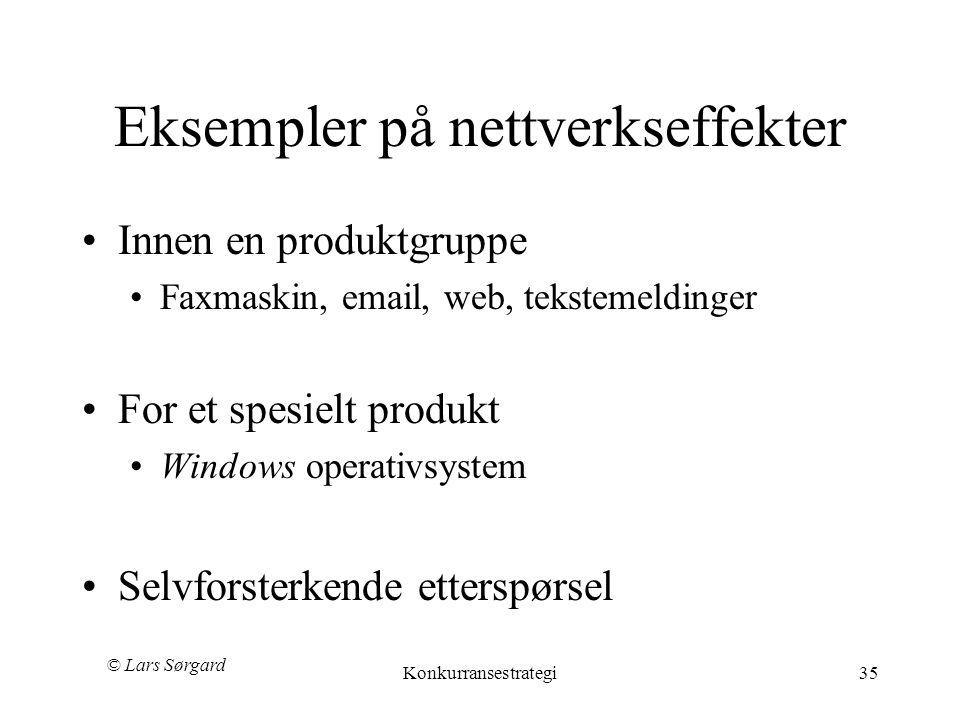 Eksempler på nettverkseffekter
