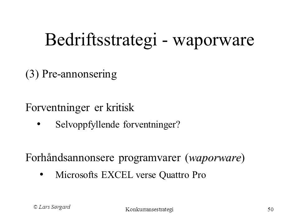 Bedriftsstrategi - waporware