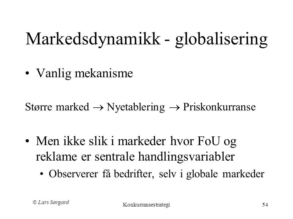 Markedsdynamikk - globalisering