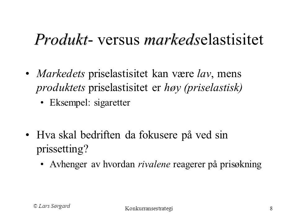 Produkt- versus markedselastisitet