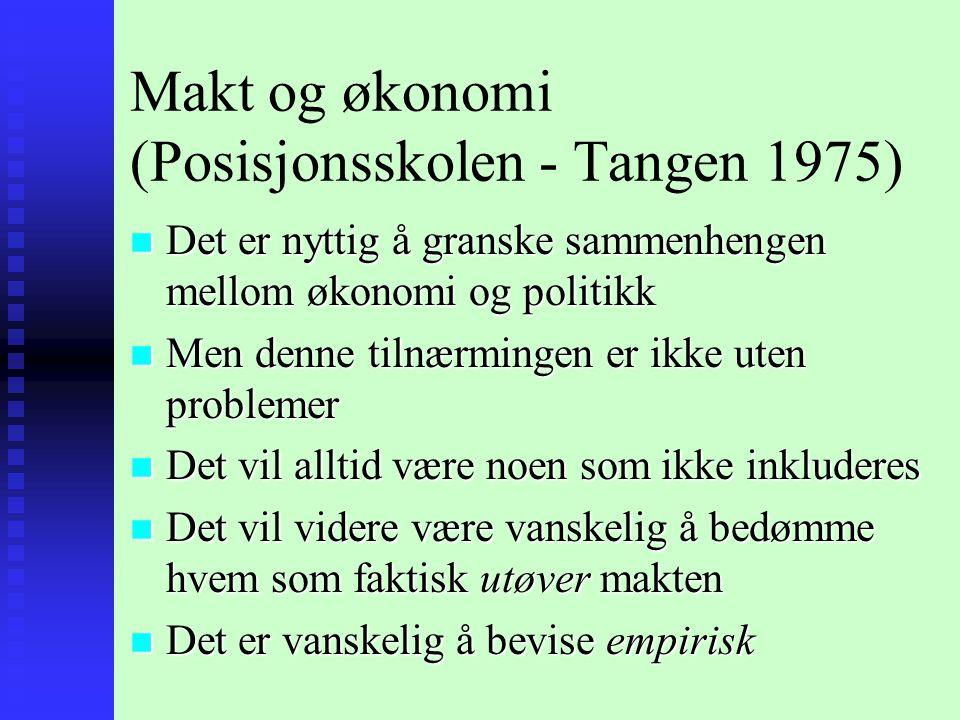 Makt og økonomi (Posisjonsskolen - Tangen 1975)