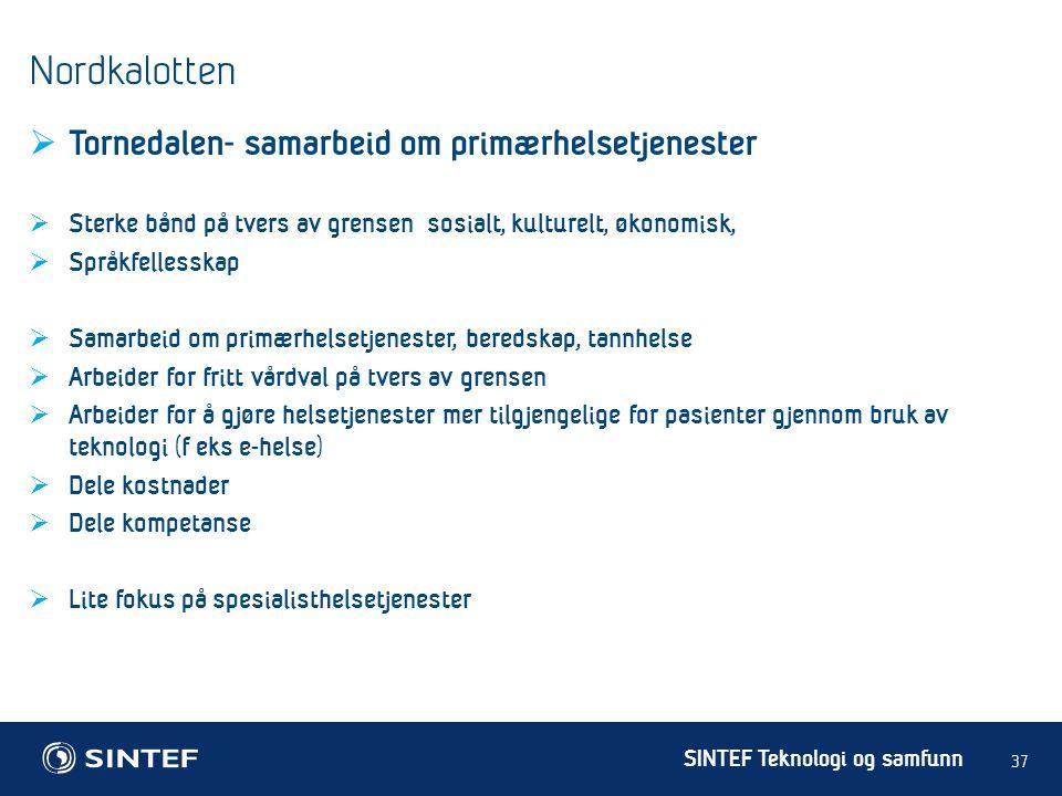 Nordkalotten Tornedalen- samarbeid om primærhelsetjenester
