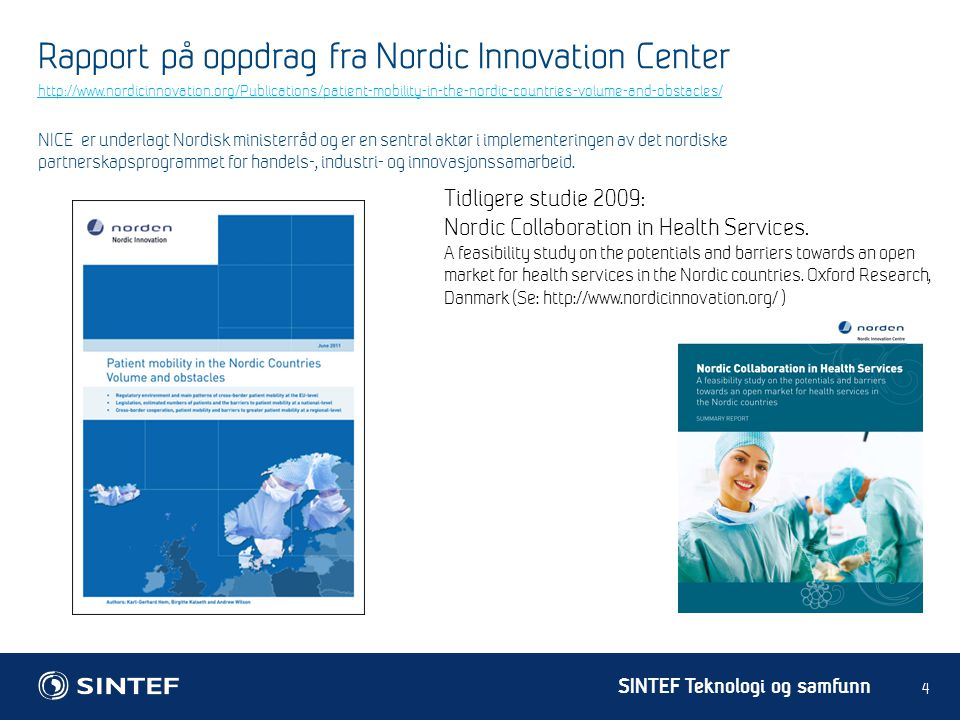 Rapport på oppdrag fra Nordic Innovation Center
