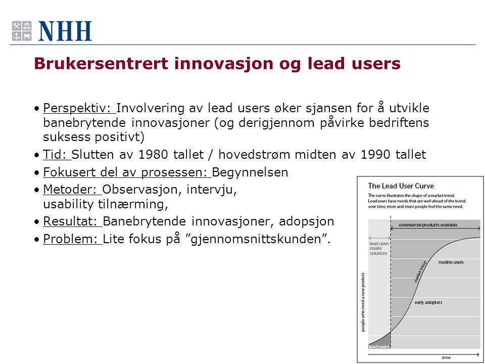 Brukersentrert innovasjon og lead users